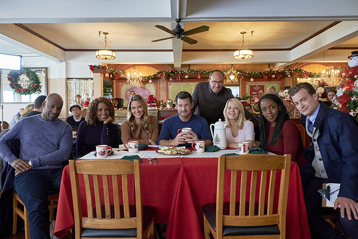 """""""Christmas in Evergreen: Letters to Santa"""" cast - Hallmark Corporate"""