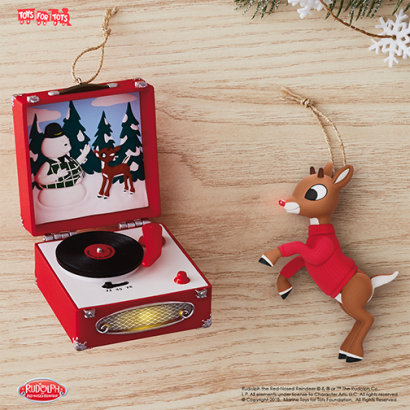 Rudolph the Red-Nosed Reindeer® A Very Shiny Nose Ornament With Light