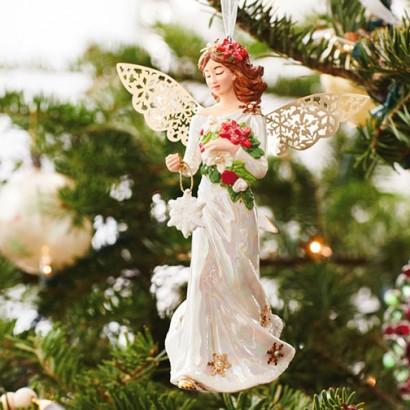 Winter Angel Porcelain Ornament
