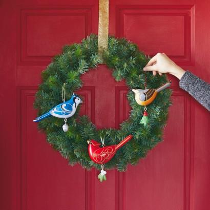 Outdoor Bird Wreath