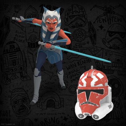 Image of Star Wars: The Clone Wars™ Ahsoka Tano™ and 332nd Company Helmet Keepsake Ornament 2-pack